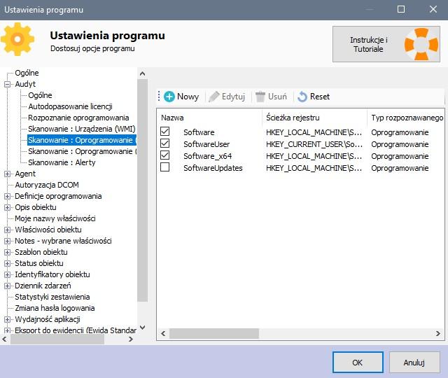 Audyt sprzętu komputerowego - rejestr Windows