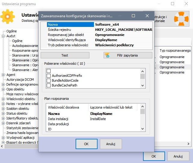 Audyt sprzętu komputerowego - model skanowania rejestru Windows