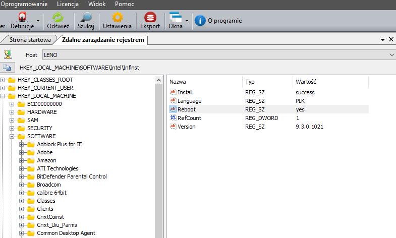 Helpdesk - zdalne zarządzania rejestrem Windows