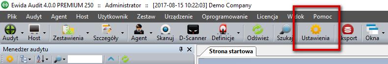 Audyt IT - Toolbar